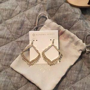 Beautiful gold Kendra Scott earrings